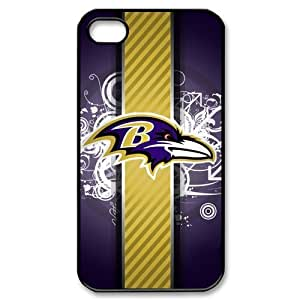 Custom Baltimore Ravens Hard Back Cover Case for iPhone 4 4S CY1621