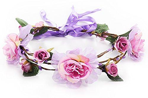 Myjoyday Flower Crown Boho Headpiece for Women Wedding