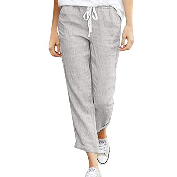Luckycat Pantalones Harem Mujer Nueve Pantalones Anchos de ...