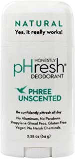 product image for HONESTLY PHRESH Phree Unscented Stick Deodorant, 0.02 Pound