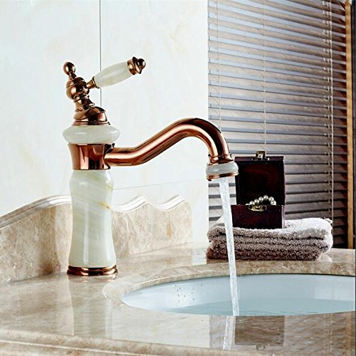 Brass torneira cozinha with Marble Basin faucet/single handle Gold finish basin sink mixers taps V -44,Brass,rose golden
