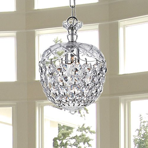 Saint Mossi Crystal Chandelier Glass Dish Modern & Contemporary Ceiling Pendant Light 1 E12 Bulb Required H12