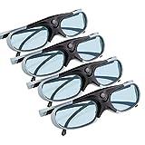APEMAN 3D Brille DLP Glasses Series Re-chargeable 3D VR Brillen Virtuelle Realität Hohe-Brightness/Hohe-Contrast kompatibel mit allen DLP-3D-Projektoren ...