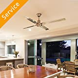 Services included:Servic includes fan brace, fan-rated box, and basic wires and fasteners. Recommended for your service:For high ceilings, downrod extenders can bring your ceiling fan down to a comfortable height How it works:  Choose service prov...
