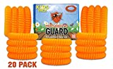 Mosquito Guard Kids Repellent Bands/Bracelets (20 Individually Packed Bands) Made with Natural Plant