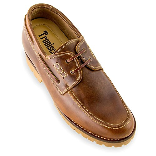 2 Adriatico For 75 cm Elevator Shoes Model height Masaltos Men Shoes Insole inches Be 7 Invisible Increasing Brown With Taller 7OUA8p