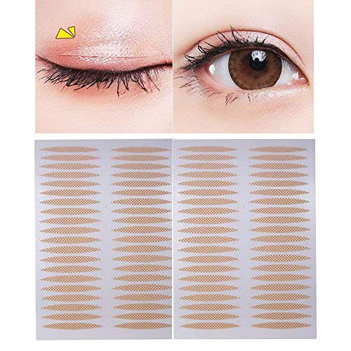 500 Pairs(1000PCS) 24mm x 3mm Nude Portable Breathable Naturally Lace Style Invisible Single Sided Double Eyelid Tape Self-Adhesive Eyelid Stickers Instant Eye Lift Strips