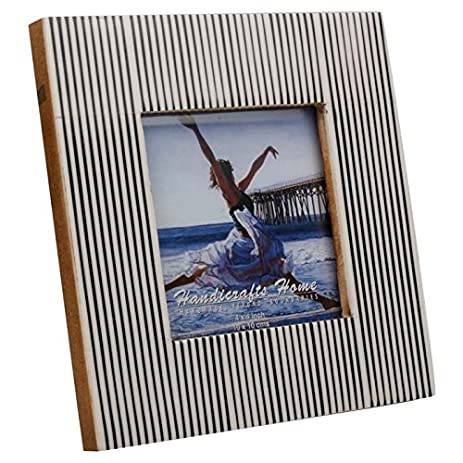 Amazon Com Striped Picture Photo Frame Handmade Naturals Resin