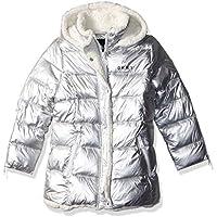 DKNY Girls' Bubble Jacket Zipper Cuffs,