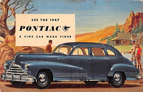 1947 Pontiac Automobile Advertising Vintage Postcard AA683