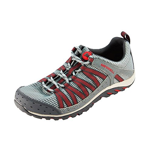 Merrell Hymist Walking Trail Shoes Mens, Monument, Red, 15 M