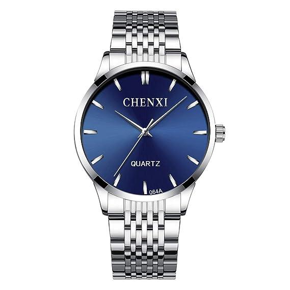 Relojes Hombres Analógico de Cuarzo Acero Inoxidable Moderno Reloj de Hombre Business Clásica Casuales Moda Minimalismo