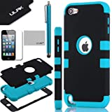 Pandamimi ULAK(™) Hybrid 3 Layer Hard Case Cover with Silicone Soft Shell Inside Case for Apple iPod Touch Generation 5 + Stylus + Screen Protector