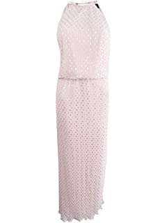 0451bd3d5217 MSK Womens Petite Pleated Blouson Halter Maxi Dress Pink 14P at ...