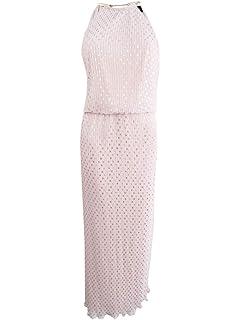 0451bd3d5217 MSK Womens Petite Pleated Blouson Halter Maxi Dress Pink 14P at ...