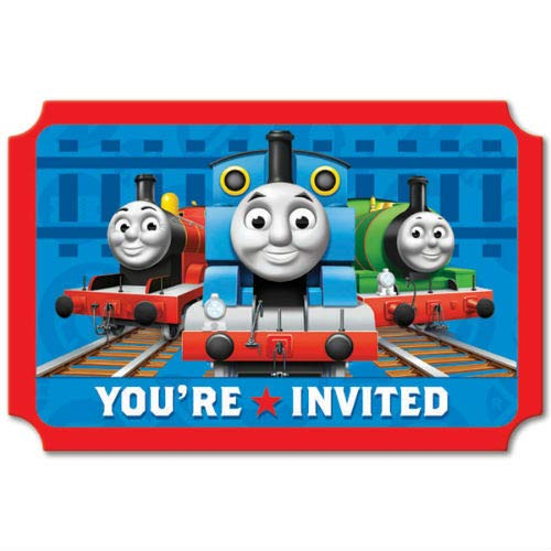 Thomas and Friends Birthday Party Invitations 16 Count Save The Date Stickers]()