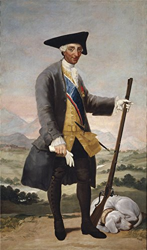 'Goya Y Lucientes Francisco De Carlos III In Hunting Costume Ca. 1788 ' Oil Painting, 18 X 31 Inch / 46 X 78 Cm ,printed On Polyster Canvas ,this High Definition Art Decorative Prints On Canvas Is Perfectly Suitalbe For Dining Room Gallery Art And Home Artwork And Gifts