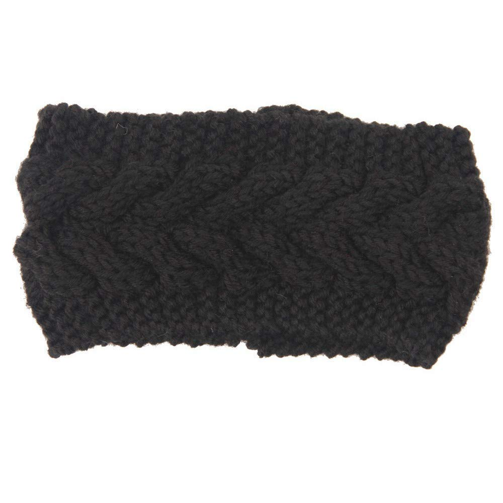 XQY Headscarf,Baotou Scarf,Lightweight-Headband Womens Winter Knit Warm Stretch Headband Headscarf Fashion Headdress Suitable for Outdoor Sports Running Cycling Can Be Used As a Gift,B