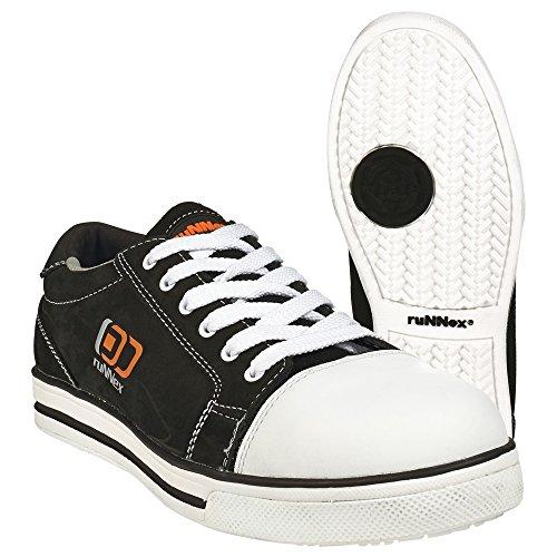 ruNNex Chaussures de sécurité S3Chaussures Basses 5340Sport Star Effet Chucks Noir, 47 EU, noir