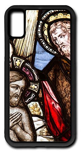 iPhone Xs Case Church Window Baptism Sacrament Glass Customizable by TYD Designs in Black Plastic