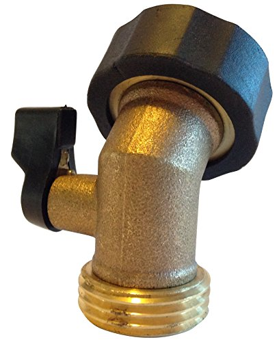 World's Best Garden Hose Heavy-duty Solid Brass Angle Water Shut-off Valve