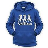 This Way Up Unifloss Kids Hoodie [Royal Blue XL]