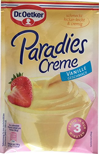 Dr. Oetker Paradies Creme Vanille (Vanilla) 60g - 3 pack