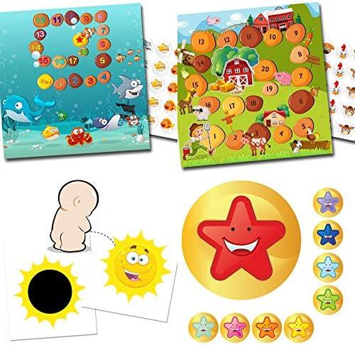 Potje trainer voor peuters2 magische stickers zonbeloningssystemen aquarium en boerderij54 stickers sterrenesmiley