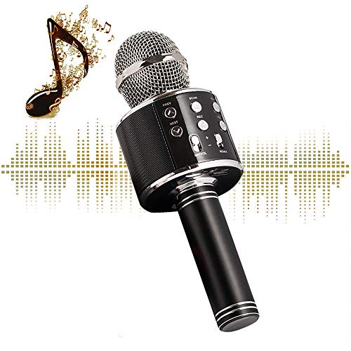 (Karaoke Microphone Wireless With Bluetooth Speaker - Instagram 5000+Likes iPhone Android PC Smartphone Portable Handheld Microphone for Singing Recording Interviews or Kids Home KTV Party)