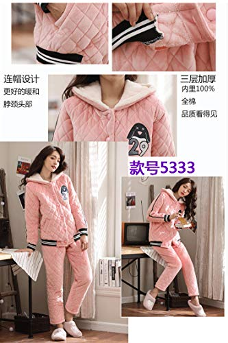 layer Service Flannel 65kg Coral Warm 168cm Xl162 Velvet Suit 58 Thickening Pajamasx Autumn Quilted Three Home Pajamas Winter Female And qR5Z7gZxw