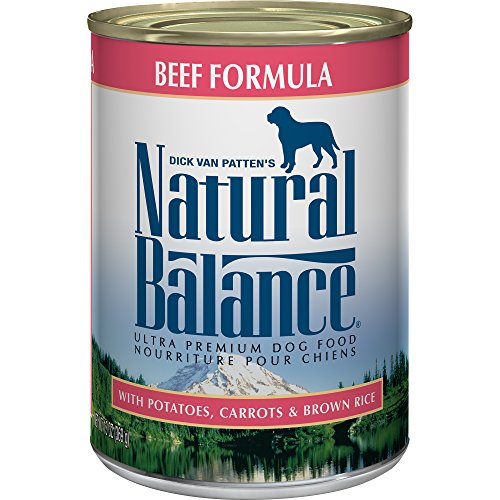 Natural Balance Ultra Premium Canned Dog Food, Beef Formula, 13-Ounce (Pack Of 12) - Natural Balance Beef Treats