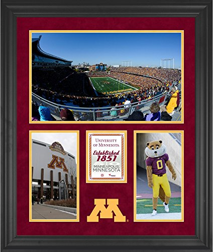Minnesota Gophers Tcf Bank Stadium Framed 20  X 24  3 Opening Collage   Fanatics Authentic Certified