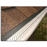 """FlexxPoint 30 Year Gutter Cover System- White Commercial 6"""" Aluminum Gutter Guards, Stainless Steel Fasteners- 100Ft."""