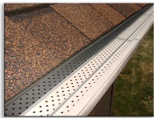 Aluminum Gutter Covers (FlexxPoint 30 Year Gutter Cover System- Thermal Thaw Black Residential 5