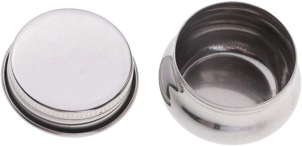 Fenteer 3er-Pack Edelstahl /Ölfarbe Palette Tasse Gro/ßer Mund Edelstahl Single Palette Tasse Megilp Terpentin L/ösungsmittel Beh/älter mit Deckel