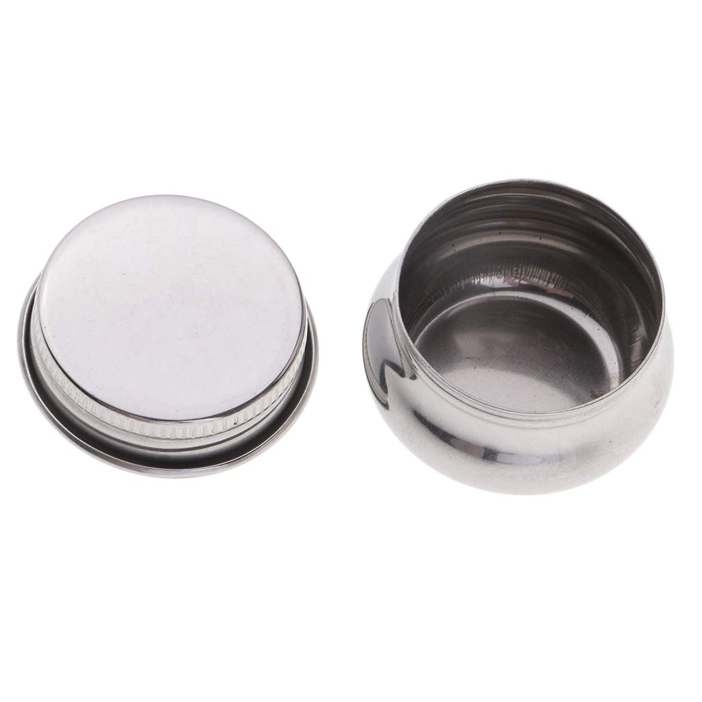 with Air Tight Lid 35mm Mouth SM SunniMix 3 Pieces Stainless Steel Artists Single Dipper Oil Palette Cup Clip Container Pot for Oil Mediums