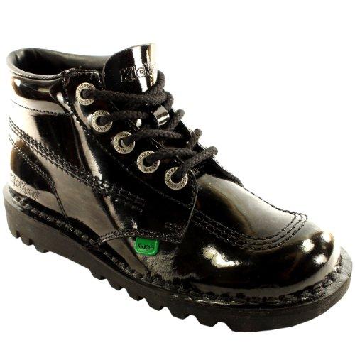 Jeunes Kick Hi Brevet Chaussures Kickers Bottes Unisexe L'école Noir 4qEwqd