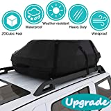 Moroly Car Top Carrier Waterproof Rooftop Cargo Carrier Bag Includes Heavy Duty Straps for Vehicle Car Truck SUV Vans,Travel Cargo Bag Box Storage Luggage (20 Cubic Feet(51'' x 40'' x 17'')- Upgrade)
