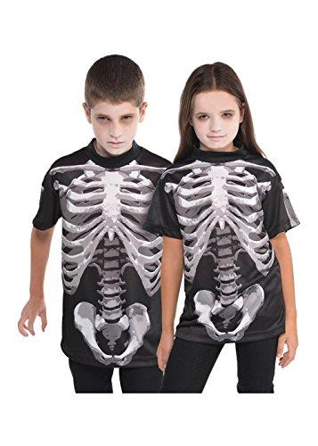 Amscan Black & Bone Skeleton T-Shirt - Child -