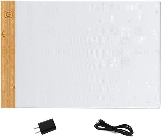 A4 LED Mesa de Luz Dibujo Conjunto con USB Light Pad Brillo ...