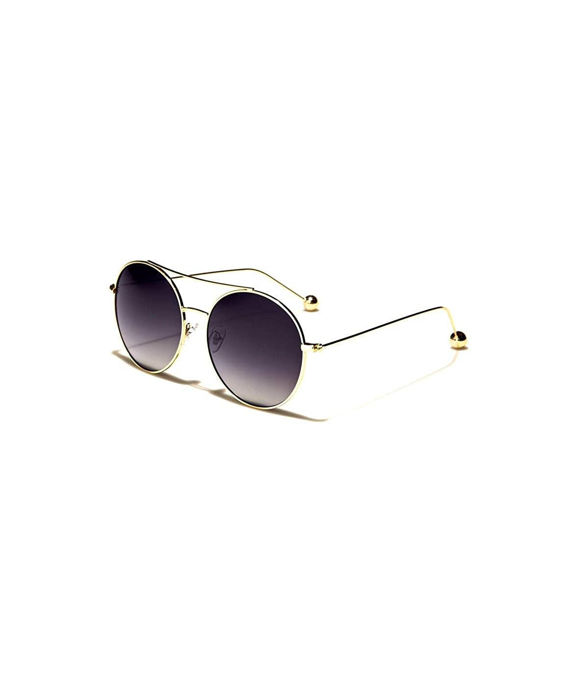Nayked Apparel Round Aviator Sunglasses,