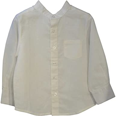 af9590cd2 Piccino Piccina Boys Mandarin Collar Button Down Shirt (Baby) (6Y, Cream)