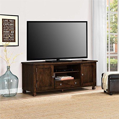 Ameriwood Home San Antonio Veneer Wood TV Stand, Espresso (Furniture Antonio Rustic San)