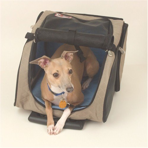 Roll Around Pet Carrier - Large/Khaki Snoozer