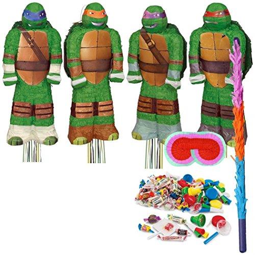 BirthdayExpress  Teenage Mutant Ninja Turtles Shaped Pinata Kit  MultiColored