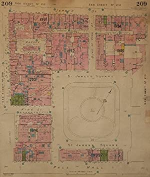 The Mall London Map.Goad Map Sw1 St James S Sq Pall Mall Jermyn St Duke York Mason S