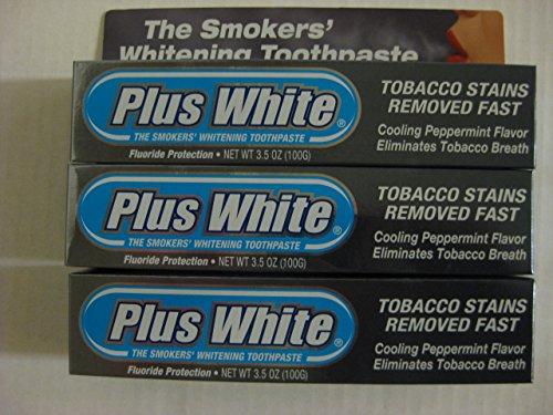 Plus White Smokers' Whitening Toothpaste 3.50 oz (Pack of 3)