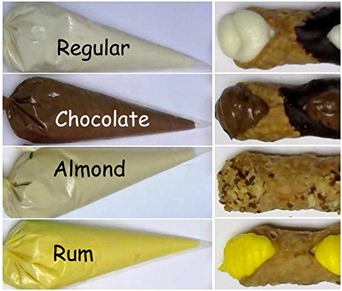 Cannoli Cream Filling (Four 1-lb Pastry Bags) - Will Contact You to Choose Flavors: Regular, Chocolate, Almond, Rum