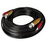 Night Owl Security CAB-100 BNC Video and Power Camera Extension Cable with Adapters, 100-Feet (Black)