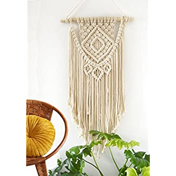 Macrame Wall Hanging Tapestry - BOHO Chic Home Decorative Wall Decor - Bohemian Dorm Art Decor - Living Room Bedroom Decorations